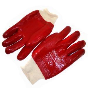 Перчатки Х/Б обливные маслобензиностойкие манжета