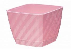 Горшок цв  4,5л кашпо, белый,розовый /Ангара/