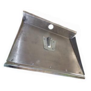 Лопата снег алюминий 500*375 с планкой 3-бортная