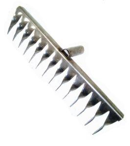 Грабли металл 14-зуб витые нерж