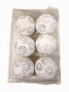 НГ Набор шаров подароч В202А7-81 6шт, белые