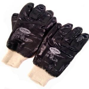 Перчатки нейлон обливные нитриловые G103/102 /красно-черные, бело-синие/