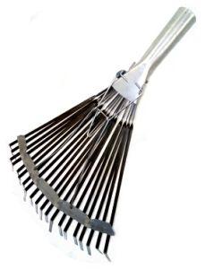 Грабли веер металл 20-зуб  плоские раздвижные