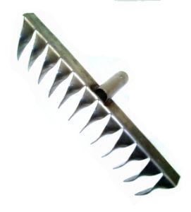 Грабли металл 12-зуб витые нерж