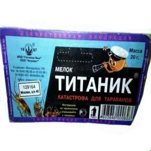 Мел Титаник от тараканов