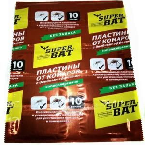 Таблетки Супер Бат 10 б/запаха красные