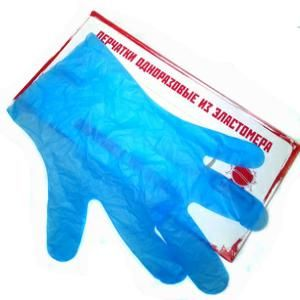 Перчатки резин эластомер Техтоп одноразовые /M.L/ T565