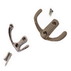 Вешалка крючок металл 2-рожковый /малый/