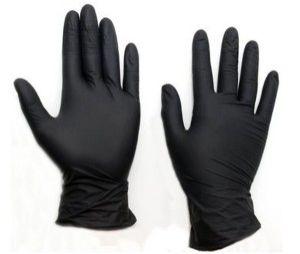 Перчатки резин нитрил черные/L/