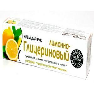 Крем для рук Лимонно-глицериновый 40г