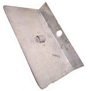 Лопата снег оцинков 500*375 без планки 1-бортная