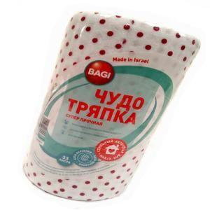 Салфетка визкоза Багги Супер прочная  20*20 33л/рулон