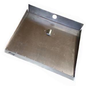 Лопата снег алюминий 500*600 с планкой 3-бортная