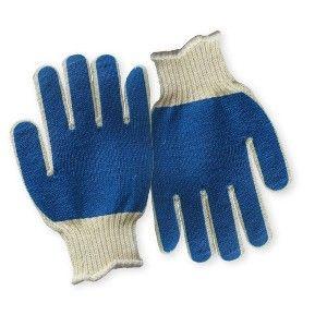 Перчатки Х/Б обливные зеленые/синие/красные