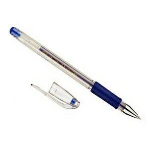 Ручка гелевая синяя Кроун