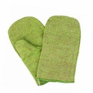 Рукавицы брезент зеленые