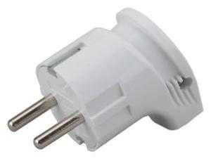 Вилка электр с/з угл 10А