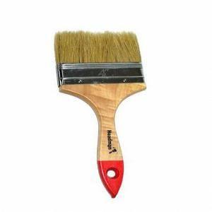 Кисть плоская 100мм ручка дерево (4)