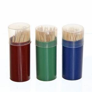 Зубочистки   60шт пластик упаковка Ветта