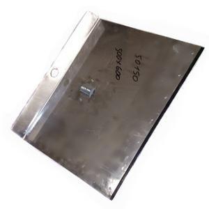 Лопата снег алюминий 500*600 с планкой 1-бортная