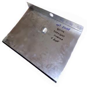 Лопата снег оцинков 500*600 с планкой 1-бортная