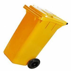 Контейнер хоз 120л на колесах /желтый,зеленый/,синий