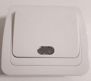 Выключатель скр Форза 1кл  Классика Белый с подсветкой 10А 250В керамика