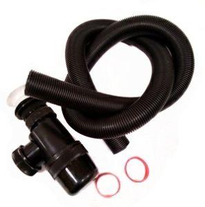 Сифон ВИР 125 пластиковый выпуск бутылка гофра 1,5м черный