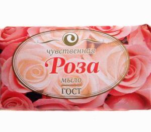 Мыло ЕЖК  90г Роза в обертке