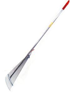 Грабли веер металл 15-зуб прутковые раздвижные с черенком