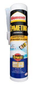 Герметик силиконовый 280мл Момент для Ванны и Кухни Прозрачный