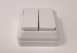 Выключатель откр Белый 2кл 10А 250В