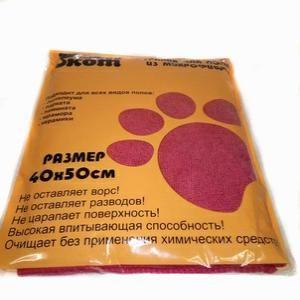 Салфетка половая Микрофибра 40*50см Рыжий кот М-02F
