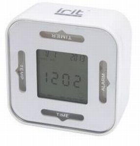 Часы-будильник Ирит-609 /термометр, календарь, секундомер/